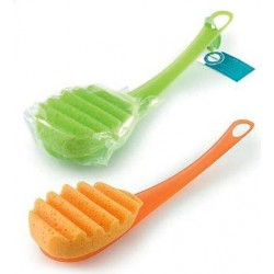 Brush Massage And Back Brush With Soft Sponge different colors