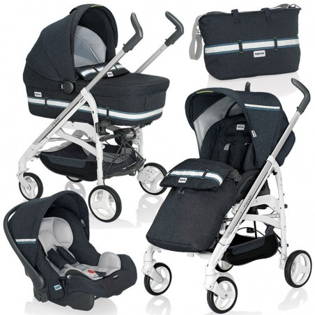 Inglesina Trio Trilogy Stroller Baby Carriage Car Seat Jeans Navy And Ardesia