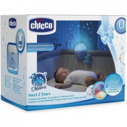 Next 2 stars light blue Cot panel with bear 0m +