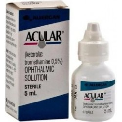Acular 0.5% - post-operative eye drops for cataracts 5 ml