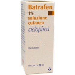 Batrafen 1% - skin solution with antifungal and antibacterial action 20 ml